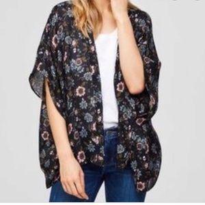 LOFT Floral kimono cover-up